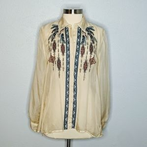 Johnny Was 4 Love And Liberty Silk Blouse